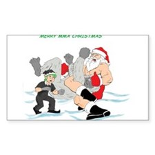 MMA Santa Vs Snowmonster Decal