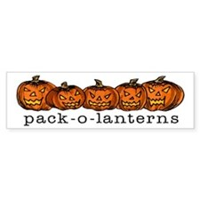 Pack-O-Lanterns Halloween Bumper Bumper Sticker