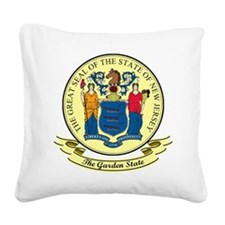 New Jersey Seal.png Square Canvas Pillow