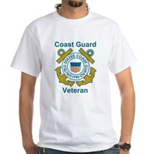 White Coast Guard Veteran Shirt