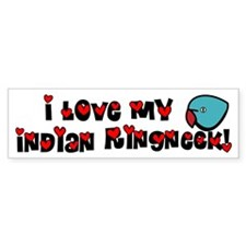 Anime Blue Indian Ringneck Bumper Bumper Sticker