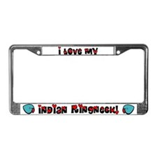 Anime Blue IR License Plate Frame