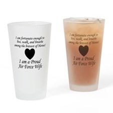 Fortunate Proud AF Wife.png Drinking Glass