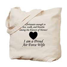 Fortunate Proud AF Wife.png Tote Bag