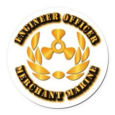 USMM - Engineer Officer Round Car Magnet