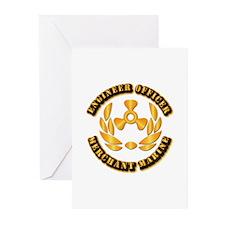 USMM - Engineer Officer Greeting Cards (Pk of 20)