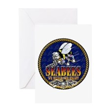 US Navy Seabees Lava Glow Greeting Card
