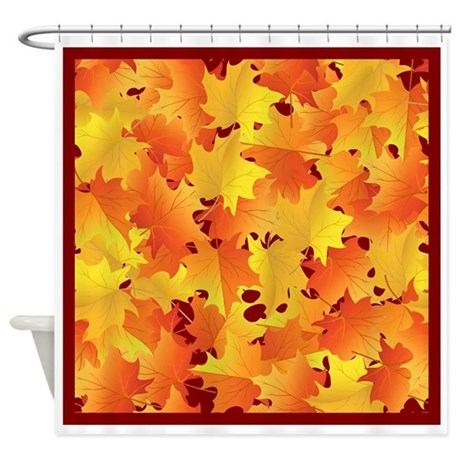 Fall Leaves Shower Curtain By Thanksgivinggear