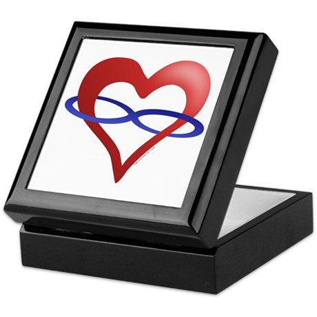Infinite Love Heart Keepsake Box