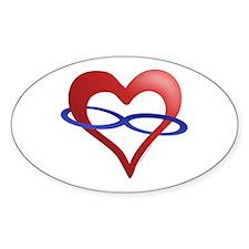Infinite Love Heart Oval Decal
