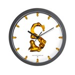 Blown Gold S Wall Clock