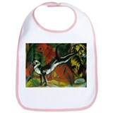 Expressionist Cat Art Bib