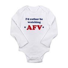 Id rather be watching AFV Long Sleeve Infant Bodys