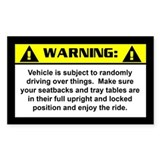Jeep Warning Rectangle Decal