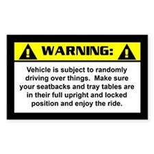 Jeep Warning Rectangle Stickers