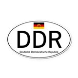 Car code DDR Oval Car Magnet