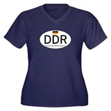Car code DDR Women's Plus Size V-Neck Dark T-Shirt