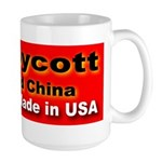 Boycott Red China Buy Made in Large Mug