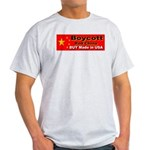 Boycott Red China Buy Made in Ash Grey T-Shirt