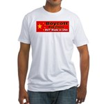 Boycott Red China Buy Made in Fitted T-Shirt