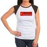 Boycott Red China Buy Made in Women's Cap Sleeve T