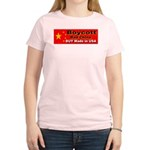 Boycott Red China Buy Made in Women's Pink T-Shirt