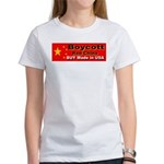 Boycott Red China Buy Made in Women's T-Shirt