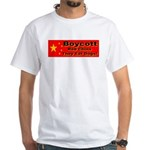 Boycott Red China They Eat Do White T-Shirt