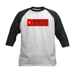 Boycott Red China! Kids Baseball Jersey