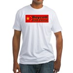 Boycott Red China! Fitted T-Shirt