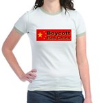 Boycott Red China! Jr. Ringer T-Shirt