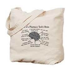 Atlas of a pharmacy techs brain.PNG Tote Bag