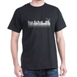 Born To Roll (Bowling) Black T-Shirt