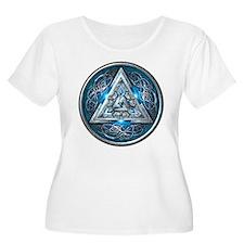Norse Valknut - Blue T-Shirt