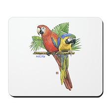 Tropical Macaws Mousepad