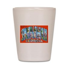 Savannah Georgia Greetings Shot Glass