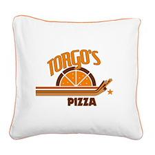 Torgo's Pizza Square Canvas Pillow