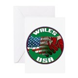 Wales USA Friendship Greeting Card