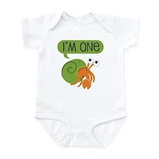 1st Birthday Hermit Crab Infant Bodysuit
