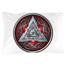 Norse Valknut - Red Pillow Case