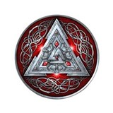 Norse Valknut - Red 3.5&quot; Button