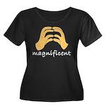 Excellent Women's Plus Size Scoop Neck Dark T-Shir
