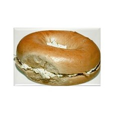 Bagel and Cream Cheese Rectangle Magnet