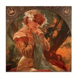 Lefevre Utile by Mucha Tile Coaster