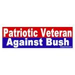 Patriot Against Bush Bumper Sticker