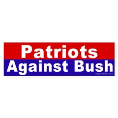 Patriots Against Bush Bumper Sticker