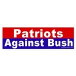 Patriots Against Bush Bumper Sticker