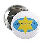 Bat Mitzvah Girl Button