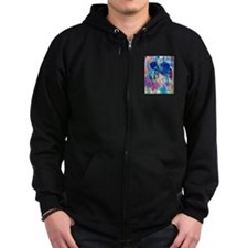 colorful mess Zip Hoodie