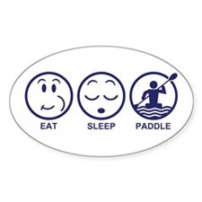 Eat Sleep Paddle Decal